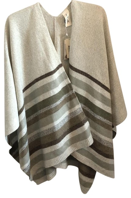 Simply Noelle Striped Poncho/Cape Size OS (one size) Simply Noelle Striped Poncho/Cape Size OS (one size) Image 1
