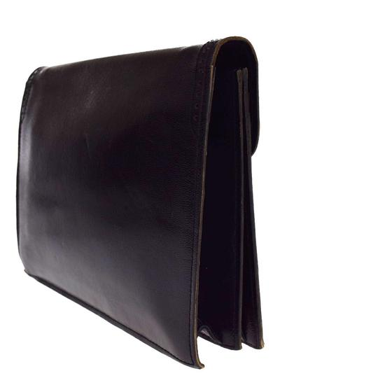 4a57f99ac0 Saint Laurent Yves Logos Hand Black Embossing Leather Clutch - Tradesy