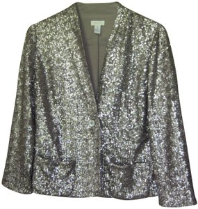 Chico's Rn79984 Sequin Top Silver