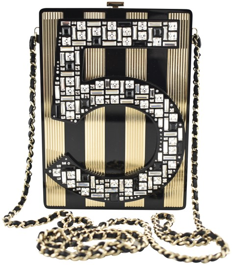 Chanel Shoulder Crossbody Classic Minaudiere Box black Clutch Image 0