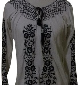 Melissa Odabash Top white and blue