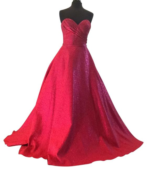 Jovani Red 45061 Long Formal Dress Size 4 (S) Jovani Red 45061 Long Formal Dress Size 4 (S) Image 1