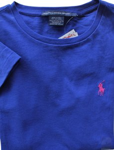 Ralph Lauren T-shirt Cotton Jersey T Shirt royal blue