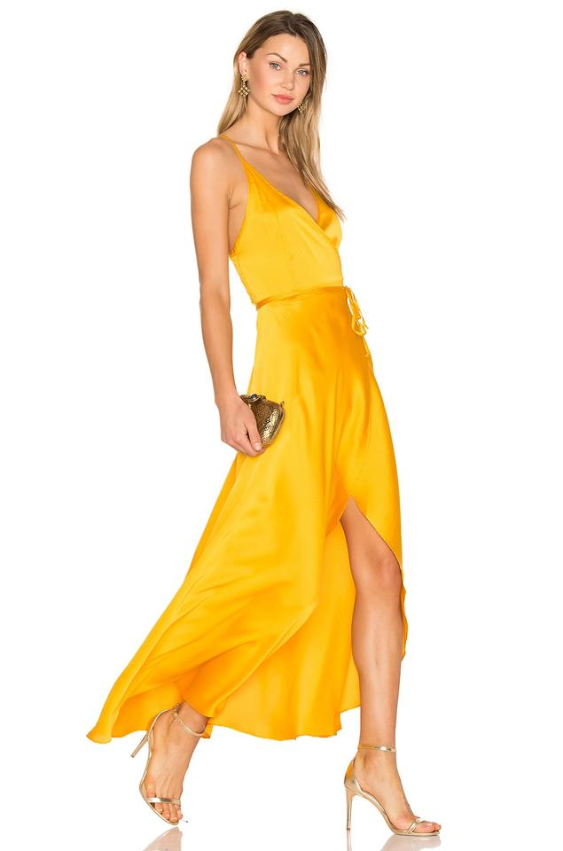 f57ee881c680 Two Arrows Wedding Guest Revolve Yellow Wrap Dress Image 0 ...