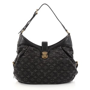 Louis Vuitton Hobo Denim Shoulder Bag