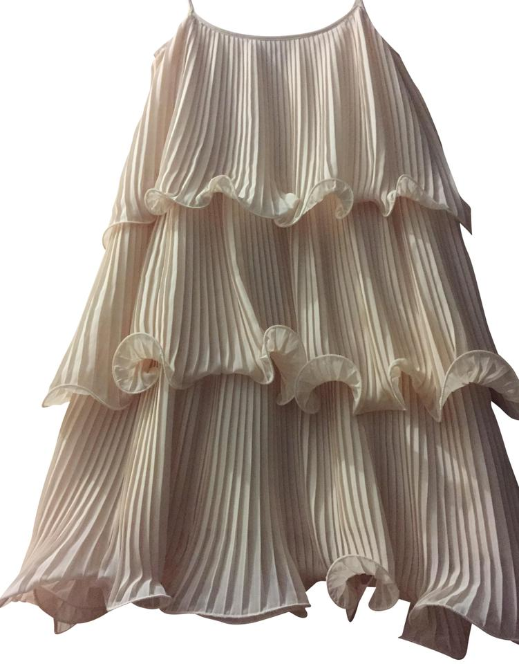 8d9296c2b4d0 H&M Pink Tiered and Layered In Chiffon Short Casual Dress Size 2 (XS ...