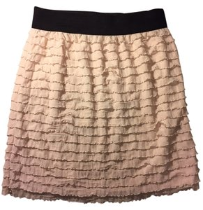 LC Lauren Conrad Eyelash Ruffle Layered Mini Skirt Light Pink