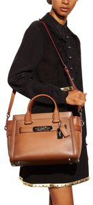 Coach Satchel in Saddle Brown
