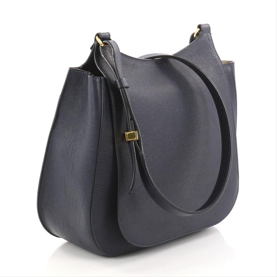 c5ee23f2a084 The Row Hunting 11 Navy Blue Leather Cross Body Bag - Tradesy