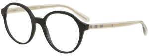 Burberry New Burberry Women Round Eyeglasses BE2254 3001 Black Frame Demo Lens