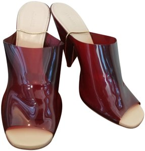 Lemaire Burgundy golden beige Mules