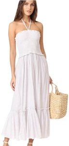 32 White Metallic Stripe Maxi Dress by La Vie Rebecca Taylor