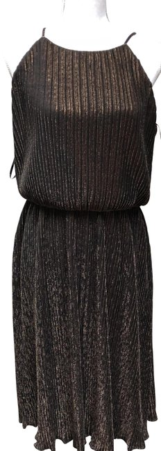 Item - Nwt--brown W/ Gold Shimmer Evening Out-formal Long Night Out Dress Size 12 (L)