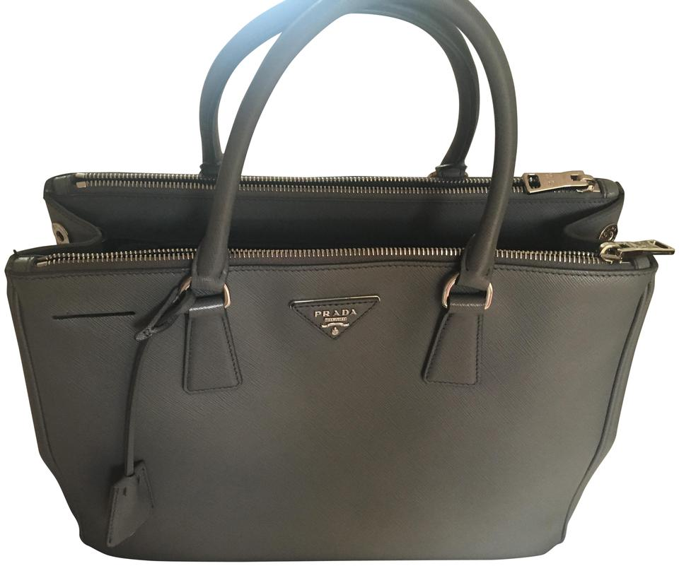 dc876770a89e Prada Galleria Lux Medium Gray Saffiano Leather Tote - Tradesy
