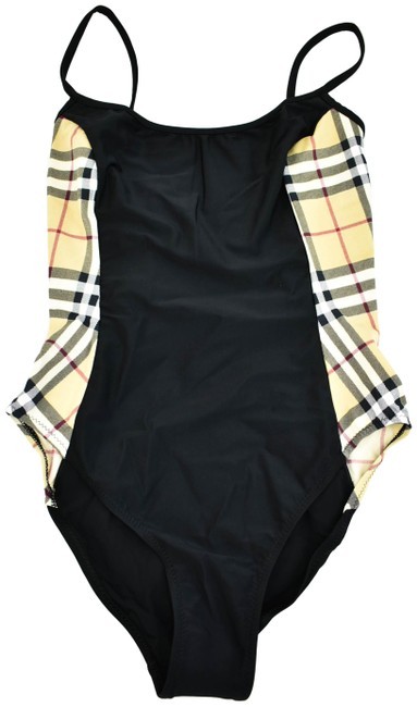 "Item - Black & L ""Nova Check"" Sz: (Fits 6 To 10) One-piece Bathing Suit Size 8 (M)"
