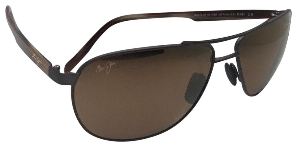 51a142af3397 Maui Jim Polarized MAUI JIM Sunglasses CASTLES MJ728-2M Matte Chocolate  Aviator Image 0 ...