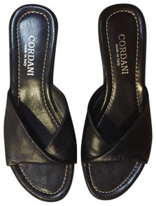 Cordani Leather Black Sandals