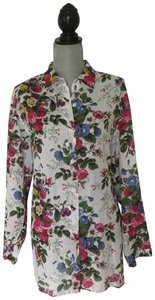 Manuel Canovas Paris Button Down Shirt Pink red yellow & blue