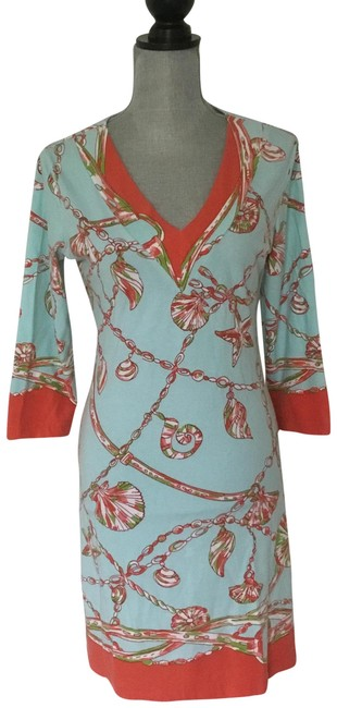 Item - Teal Summer Mid-length Short Casual Dress Size 8 (M)