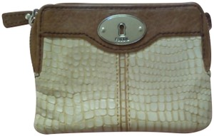 Fossil Tote Hobo Crossbody Shoulder Messenger Ivory Clutch