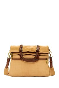 Fossil Leather Tote in Camel