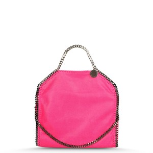 Stella McCartney Shaggy Deer Falabella Fold Over Tote in Pink