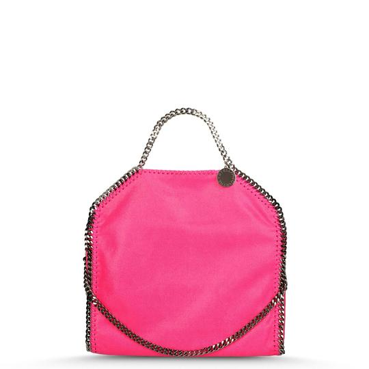 Preload https://img-static.tradesy.com/item/23452087/stella-mccartney-falabella-shaggy-deer-fold-over-pink-faux-leather-tote-0-0-540-540.jpg