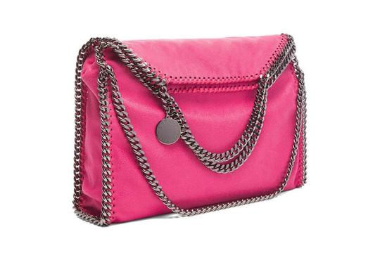 Stella McCartney Shaggy Deer Falabella Fold Over Tote in Pink Image 1