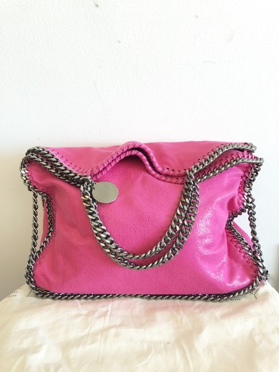 Stella McCartney Shaggy Deer Falabella Fold Over Tote in Pink Image 2