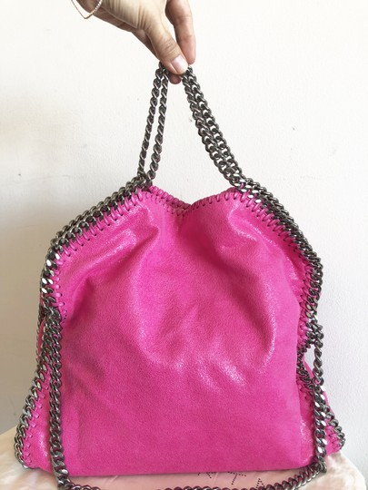 Stella McCartney Shaggy Deer Falabella Fold Over Tote in Pink Image 3