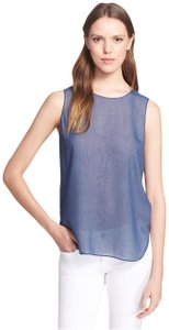 Vince Top Oxford Blue / Off White