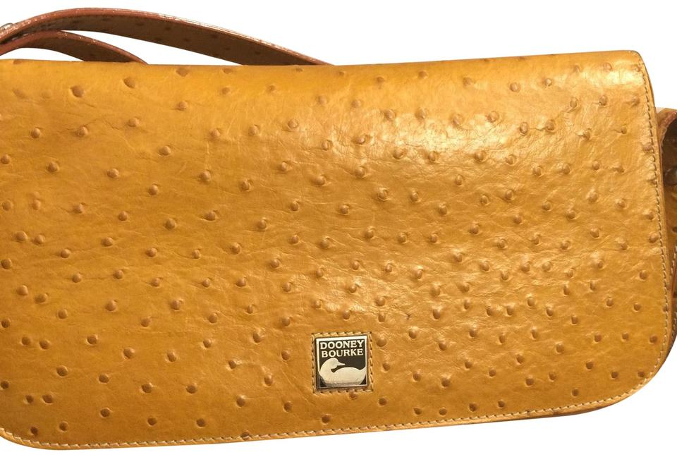 19aa57fcac56 Dooney & Bourke And Tan Ostrich Leather Shoulder Bag - Tradesy