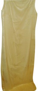 yellow Maxi Dress by Lord & Taylor Ethereal Sheer Beachy Artsy Chemise