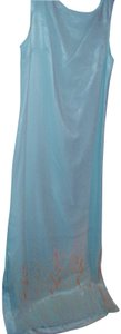 blue Maxi Dress by lord and taylor Chemise Sheath Sundress Lightweight Artistic