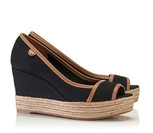 Tory Burch black/ brown Wedges