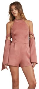 Finders Keepers Cold Shoulder Fitted Halter Pink Dress