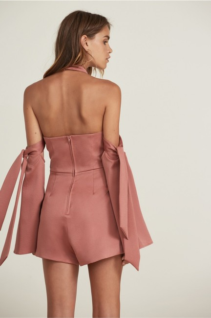 Finders Keepers Cold Shoulder Fitted Halter Pink Dress Image 2