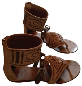 ASH Gladiator Leather Tan and Brown Sandals