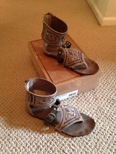 Ash Gladiator Leather Tan and Brown Sandals Image 1