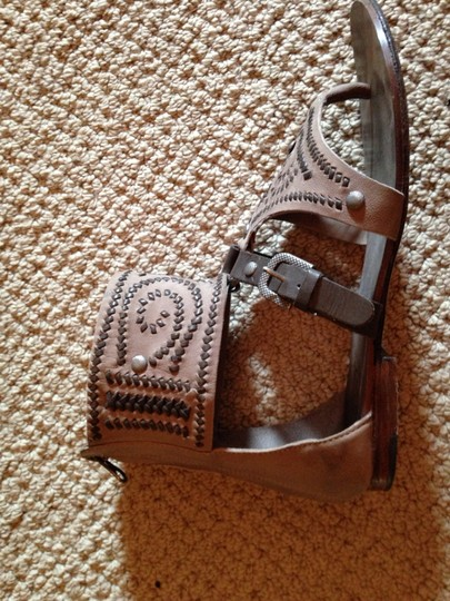 Ash Gladiator Leather Tan and Brown Sandals Image 4