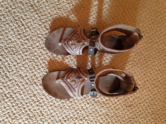 Ash Gladiator Leather Tan and Brown Sandals Image 8