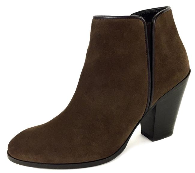 Item - Brown Suede Chunky Heel High-ankle Boots/Booties Size EU 37 (Approx. US 7) Narrow (Aa, N)