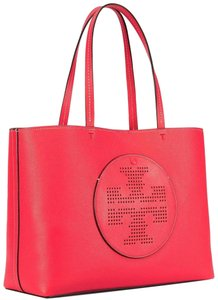Tory Burch Tote in red ginger tuscan wine