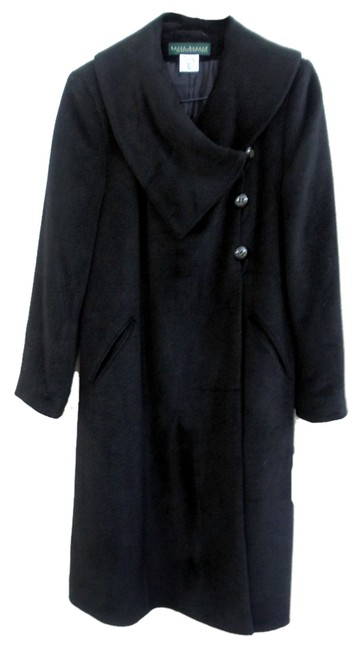 Harvé Benard Portrait Collar Asymmetrical Swing Coat Image 1