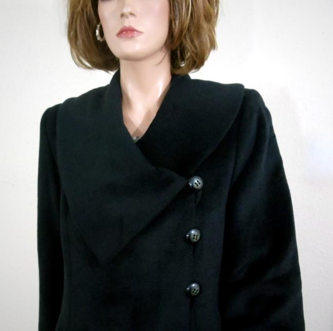 Harvé Benard Portrait Collar Asymmetrical Swing Coat Image 5