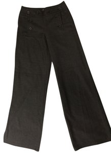 Max Studio Sailor Wide Leg Pants Charcoal