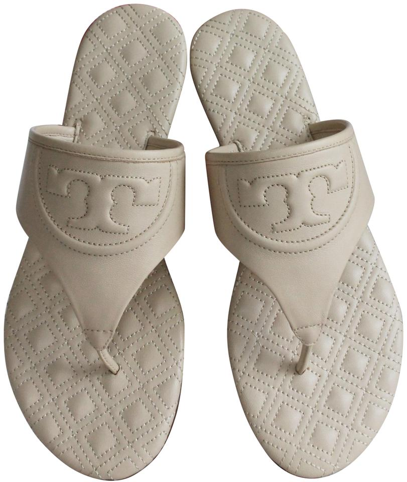 9904cdbc1 Tory Burch White Fleming Leather Sandals Flats Size US 6.5 Regular ...