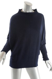 Nili Lotan Cashmere Deep Navy Funnel Neck Sweater
