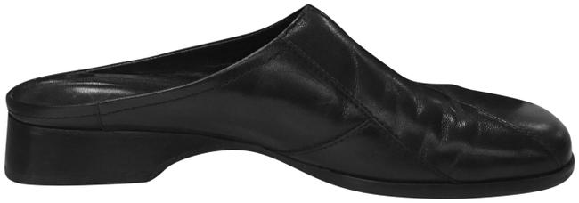 Item - Black Leather Loafer Mules/Slides Size US 9.5 Regular (M, B)