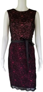 Maggy London Lace Sheath Ombre Dress